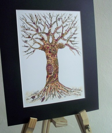 The Old Oak Created in pen and ink