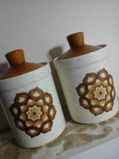 Palissy,Royal Worcester storage jars ~ 70s ~