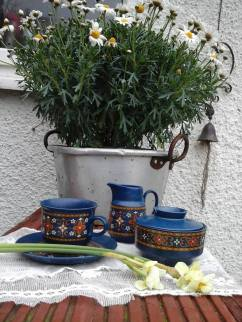West German vintage 1970s,jug,suagr bowl,cup saucer,
