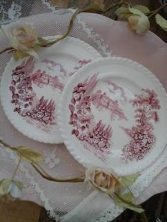 Castle on the Lake tea plates