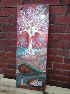 Sleeping hares ~ www.etsy.com/uk/shop/heartofnaturestudio ~ large canvas,original painting